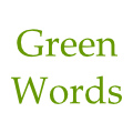 The logo of Green Words.